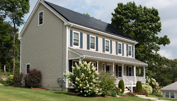 solar power roof home